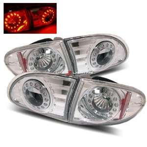 95 02 Chevy Cavalier LED Tail Lights   Chrome Automotive