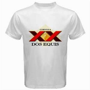 Dos Equis Mexican Beer Logo New White T Shirt Size  3XL