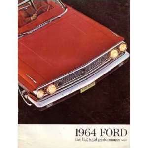 1964 FORD GALAXIE Sales Brochure Literature Book Piece