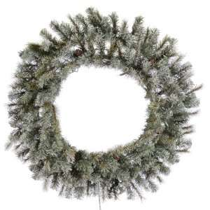 60 Frosted Sartell Christmas Wreath & Glittered w/ 600T