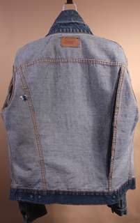 MENS VTG LEVI BIG E 2 POCKET DENIM USA MADE JACKET sz S