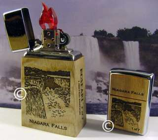 ZIPPO ROSEART TABLE LIGHTER SET NIAGARA FALLS LIMITED