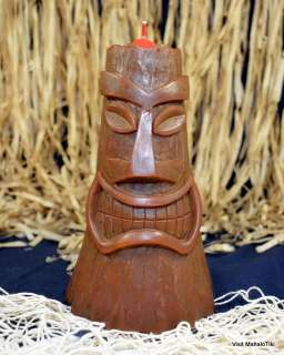 Large Hawaiian Hawaii Tiki Volcano Lava Candle