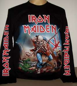 Iron Maiden The Trooper Metal long sleeve T Shirt Size L new