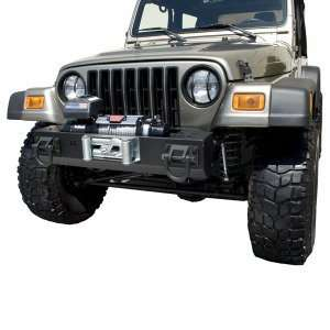 BUMPER BASE XHD FRONT WITH WINCH MOUNT, RUGGED RIDGE, JEEP