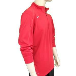 NIKE Mens Futbol Soccer Long Sleeve Shirt Jacket Red Size