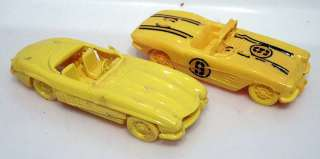 1950s Model Kits CORVETTE & MERCEDES BENZ Race Cars
