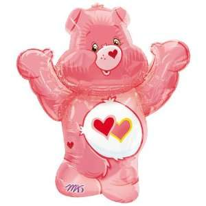 Jumbo LOVE A LOT CARE BEAR Pink Figure Mylar Party Balloon & Weight 30
