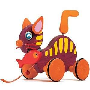 Catty The Cat Wooden Pull Toy Toys & Games