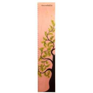 Personalized Pink Tree of Life Wooden Growth Height Chart Baby