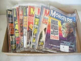 12 Famous Monsters of Filmland & 4 Monster World Magazines Issues 1963