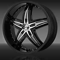 20 Gianna Wheels Blitz Black Rim Tire Jaguar 350Z CTS Audi Lexus