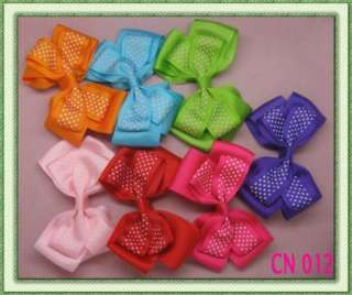 7pcs 4 inch 15 style Girls Baby strip butterfly Hair Bow Clip flower