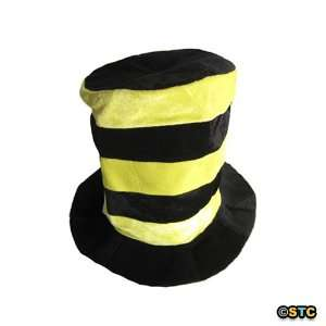 & Yellow Striped Tall Top Hat ~ Halloween Fun Top Hats Toys & Games
