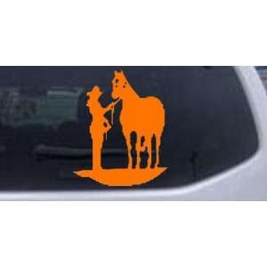 Cowgirl with Horse Western Car Window Wall Laptop Decal