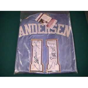 CHRIS ANDERSEN SIGNED AUTOGRAPHED DENVER NUGGETS JERSEY
