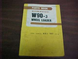 KOMATSU W90 3 WHEEL LOADER PARTS MANUAL