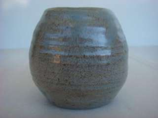 MM VTM Signed Arts & Crafts Studio Pottery Vase Gray