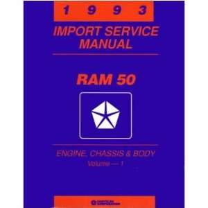 1993 DODGE RAM 50 TRUCK Shop Service Repair Manual Book