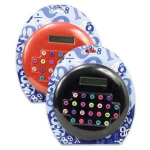 Jumbo Round Calculator 8.25d Assorted Color Electronics