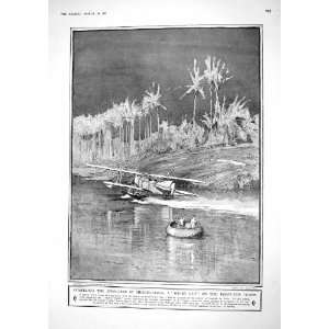 1917 DWELLERS MESOPOTAMIA TIGRIS RIVER WAR SEA PLANE