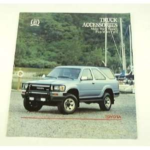 1990 90 TOYOTA TRUCK ACCESSORIES BROCHURE Pickup 4Rnner