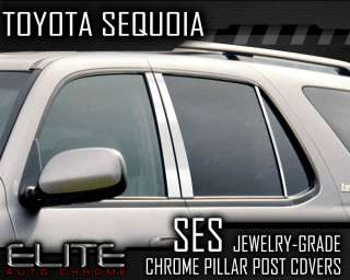01 07 Toyota Sequoia 6pc. SES Chrome Pillar Post Covers