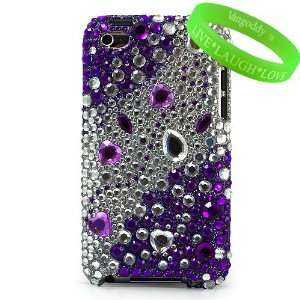 and White Rhinestone Jewel Two Piece Diamond Crystal Case Hard Cover