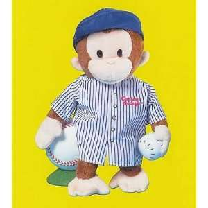 12 Curious George Baseball Player Plush Doll By RUSS