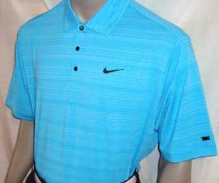 XL 2011 Nike Tiger Woods Bonded Heather Stripe Golf Polo Shirt (495