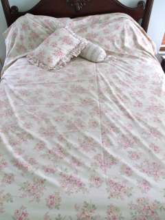 Simply Shabby Chic Blush Beauty QUEEN duvet cover ROSES Ashwell HTF