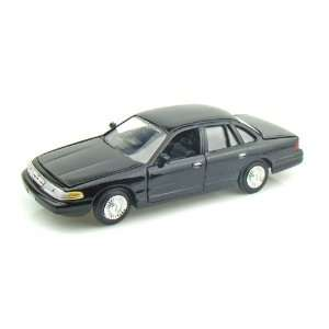1998 Ford Crown Victoria Police Car 1/24 Black Toys & Games