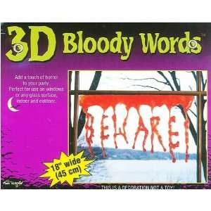 3D Beware Bloody Drips Gory Halloween Prop Toys & Games