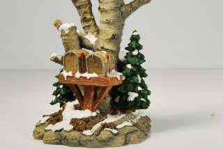 Christmas Village Accessories   Birch Tree Cluster With Two Mailboxes