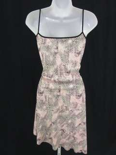 BLUGIRL BLUMARINE Pink Animal Print Sleeveless Dress S