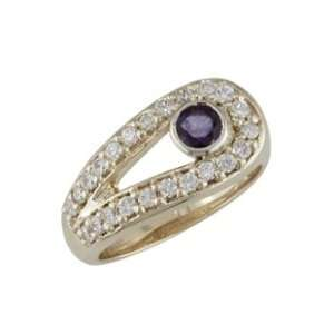 Azena 14K Yellow Gold Sapphire & Diamond Ring Jewelry