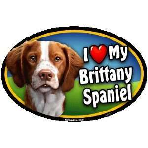 Oval Car Magnet   I Love My Brittany Spaniel Kitchen