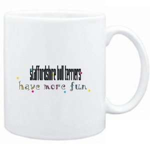 Mug White Staffordshire Bull Terriers have more fun Dogs