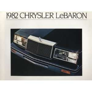1982 Chrysler LeBaron Sales Brochure Book Convertible