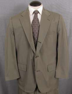 Brooks Brothers vintage green poplin three button sack suit, ~44R