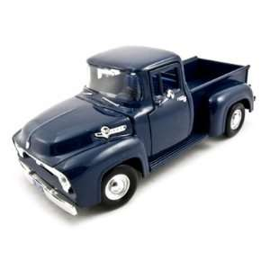 1956 Ford F 100 Pickup Blue 124 Diecast Car Model Toys
