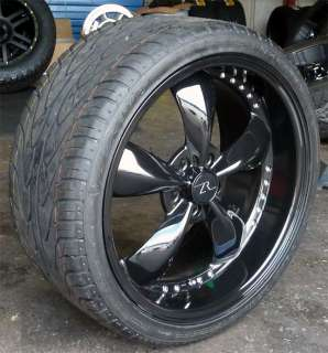 Black Mustang Bullitt Wheels 20x8.5 & 20x10 & Wide Tires 2005 2012