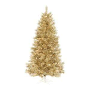 9.5 Pre Lit Champagne Gold Artificial Christmas Tree