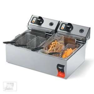 Vollrath 40708 20 Lb Standard Duty Electric Split Pot Countertop Fryer
