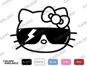 Hello Kitty Lady Gaga Sunglasses Car/Truck Vinyl Window Decal Sticker