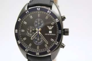 Armani Men Sportivo Chrono Date Leather Band Watch AR5916