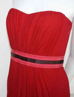 CAROLINA HERRERA Red Strapless Silk Gown NEW Dress 6