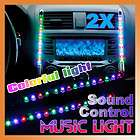 12V 2 Pcs Car Multi Color 15 LED Sound Effect Control M