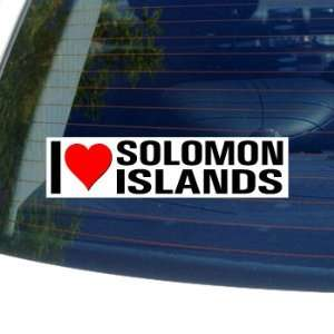 I Love Heart SOLOMON ISLANDS   Window Bumper Sticker