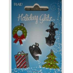 Plaid Holiday Glitz Christmas Wreath Charms Arts, Crafts & Sewing